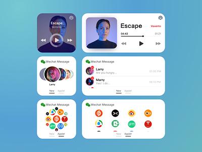 iOS Widget os animation ios icon inteaction app ui ux vector design
