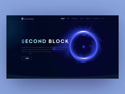 Second Block website branding motion graphics 3d animation