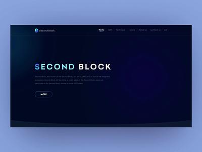 Second Block concept 2 web website ux animal inteaction graphic design logo motion graphics branding 3d animation