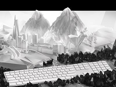 3D Illustration web opener webagency andorra illustration 3d