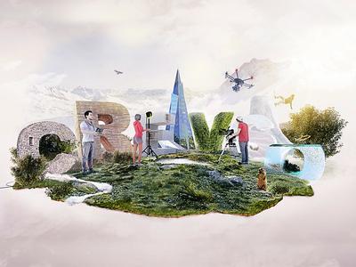 Diorama mountain diorama caldea webagency andorra motion video illustration 3d