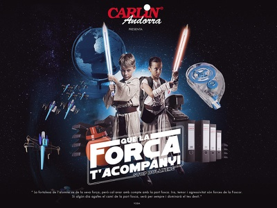 Carlin Andorra bullying xwing bb8 star wars campaign webagency illustration andorra