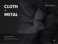 C4D cloth metal