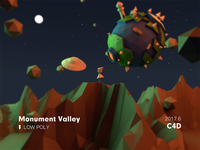 Monument Valley  Low Poly