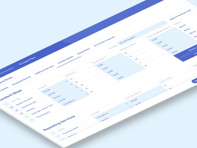 Services support planner web app
