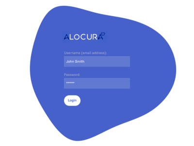 Login Page for web app