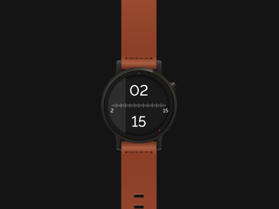 Tymometer : Watchface meter ui ux android wear moto 360 roto gears smartwatch time watchface