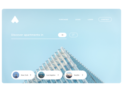 Homes userexperience experiencedesign design uxdesign uidesign userinterface discover apartment home ux ui concept