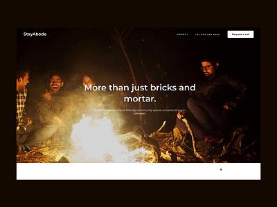 StayAbode Website minimal startup coliving homes responsive website webdesign web ux design ui