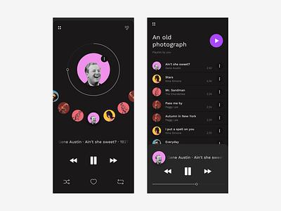 Music App : WIP dark ui dark app dial circular daily 100 dailyui mobile app design mobile music player app music app ui music player musicapp music interaction design ux ui