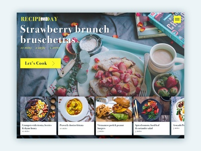Recipe of the Day App UI