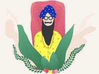Style Singh Meditating