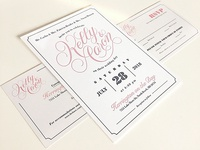 The Green's Wedding Stationary