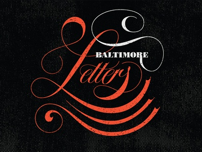 Baltimore Letters Promo Piece