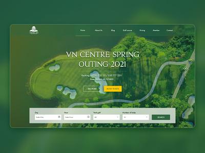 Web golf booking luxurious sport figma desktop web booking golf golf booking design clean ux ui