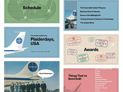 Plaiderdays: Intro Deck slides deck airline fintech plaidersdays pan am hackathon vintage