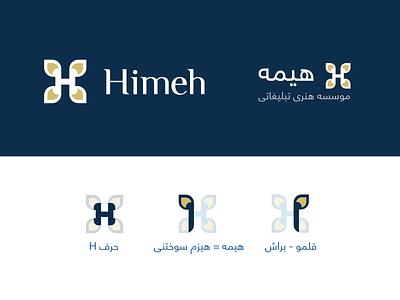 Hime Logo Presentation لوگو فارسی لوگو h letter logo h letter h logo