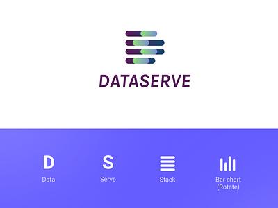 DataServe Logo d logo chart stack data