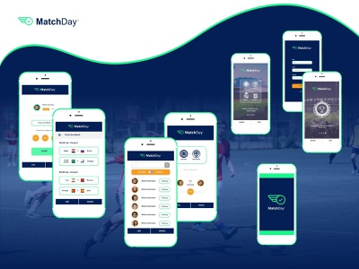 Mobile app UI design for sports and gaming start-up app design start up sports app design mobile app ui