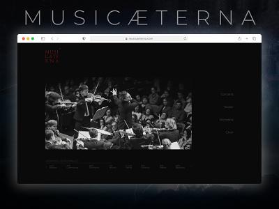 Musicæterna. web ux design concept minimal website редизайн концепт веб дизайн redisign ui web design