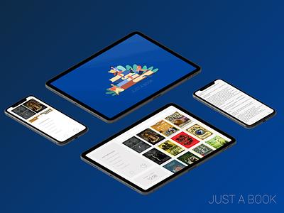 Just a book book reader app design book reading design figma concept