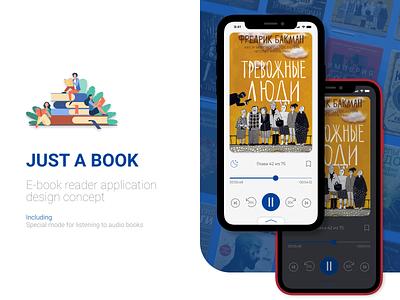E-book reader app app design design concept ux ui figma design app audiobook design concept e-book