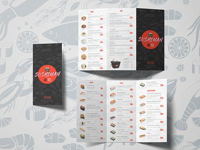 Sushiman concept sushi bar menu ui ux branding sushi design