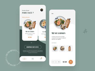 Waffles Restaurant App adobexd ui design mobile app mobile healthy french illustration menu waffles food delivery restaurant design ux ui