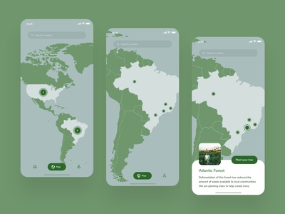 Forest Restoration App Concept -  Map