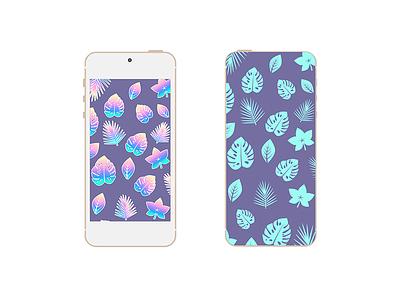 Tropical Pattern for Smartphone flat pastel pattern wallpaper