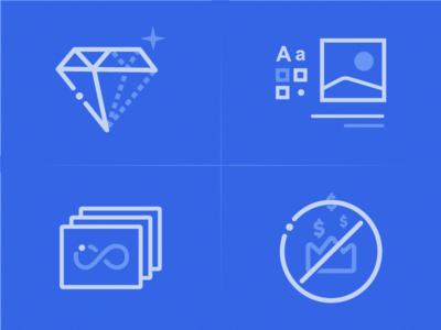 Dual tone icons