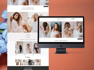 Untamed Petals weddings website design web web design shopify ecommerce flowers floral bridal wedding