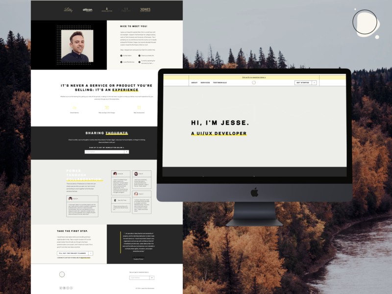 Personal Site Refresh...Again... about me webflow personal site web design personal website personal logo personal branding personal brand portfolio site