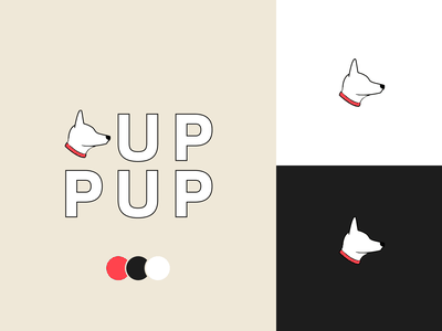 UP PUP pet care pets animal veterinarian veterinary dog dogs logo branding pet