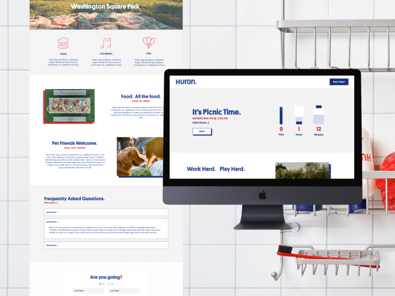 Huron Landing Page landingpage countdowntimer countdown timer countdown userhuron huron landing page direct to consumer dtc skincare mens skincare