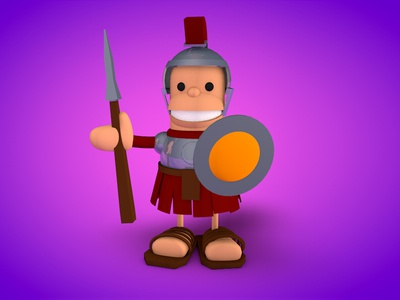 Romo roman soldier character design cinema4d ancient game concept draft
