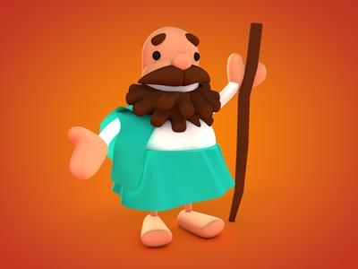 Gezo ancient traveler character design cinema4d animation