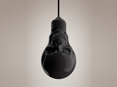 Normalitat ist der Tod... skull bulb 3d black noir adorno