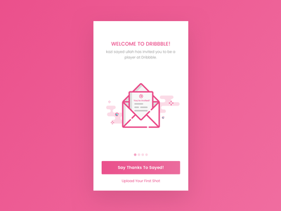 First Shot! invitation dribbble user experience user interface debut first shot first