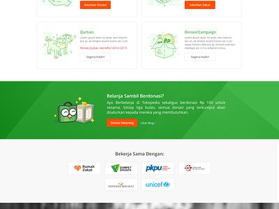 Tokopedia Donasi - Website Design tokopedia uiux ux ui design website