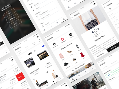 Shoplook Mobile Apps Design fashion shot debut dribbble design apps mobile ux ui