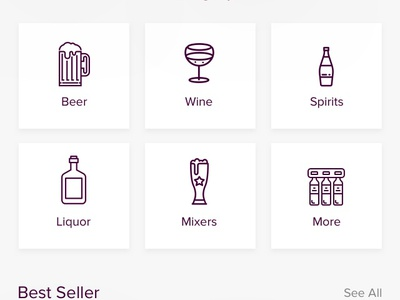 E-Liquor Mobile Apps shot debut dribbble design apps mobile ux ui