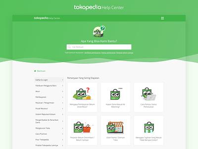 Tokopedia - Help Center tokopedia help landing uiux user experience user interface shot ux ui