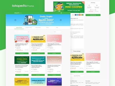 Tokopedia - Promotions Microsite tokopedia landing uiux user experience user interface promo shot design apps ux ui