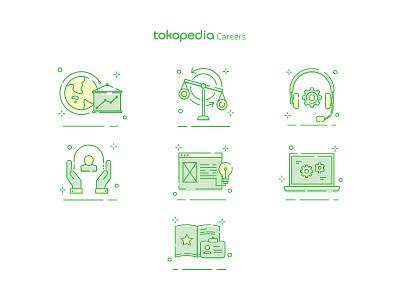 Tokopedia Careers - New Icon Set user interface logo icon set icon tokopedia