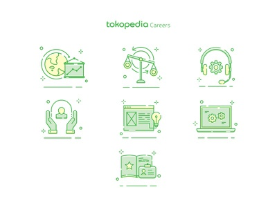 Tokopedia Careers - New Icon Set user interface logo icon set icon tokopedia