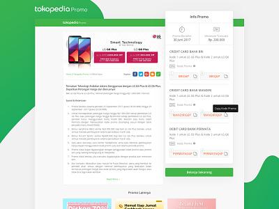 Tokopedia Promo Detail - Multiple Code desktop page promotion user experience user interface uiux ux ui tokopedia