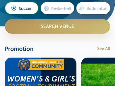 Sports Venue Booking mobile dribbble shot apps uiux design user experience ux user interface ui