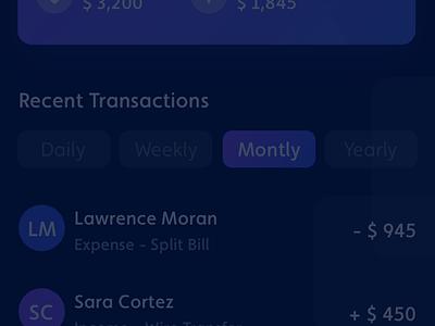 Finance Tracking App dark theme dark mode dark app dark ui dark financial app finance app finance mobile debut shot apps uiux design user experience ux user interface ui