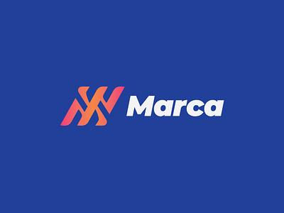 M Monogram letter logotype design mark identity branding modern simple logo monogram